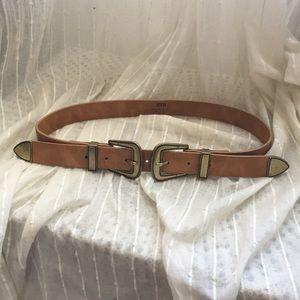 B-low the belt double buckle belt